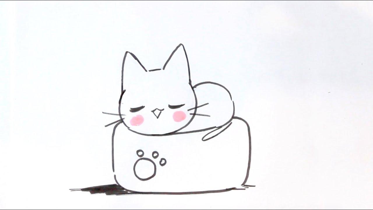 dessiner un chat facilement 7 dessiner un chat kawaii sur un oreiller japonais methode facile