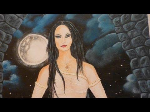Megan Fox - Fantasy Painting - Pure Source Energy - Teal Scott