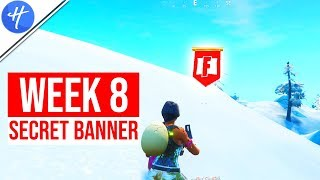 FORTNITE WEEK 8 SECRET BANNER LOCATION! (Season 8 Week 8 loading screen)
