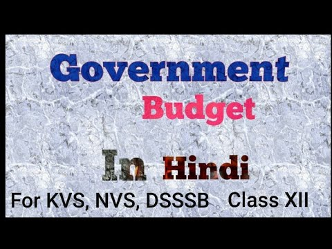 Government Budget and the Economy class Xll