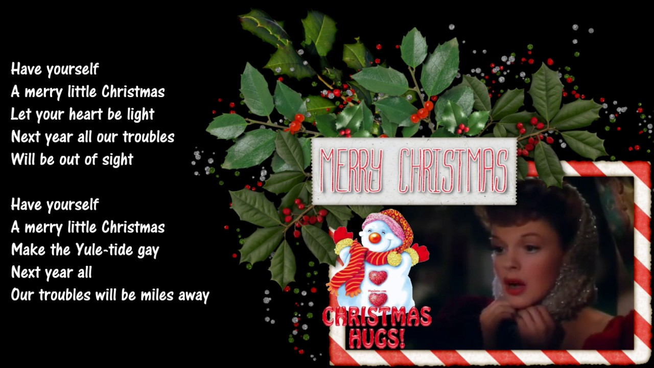 Have Yourself A Merry Little Christmas *☆* Judy Garland *☆* - YouTube