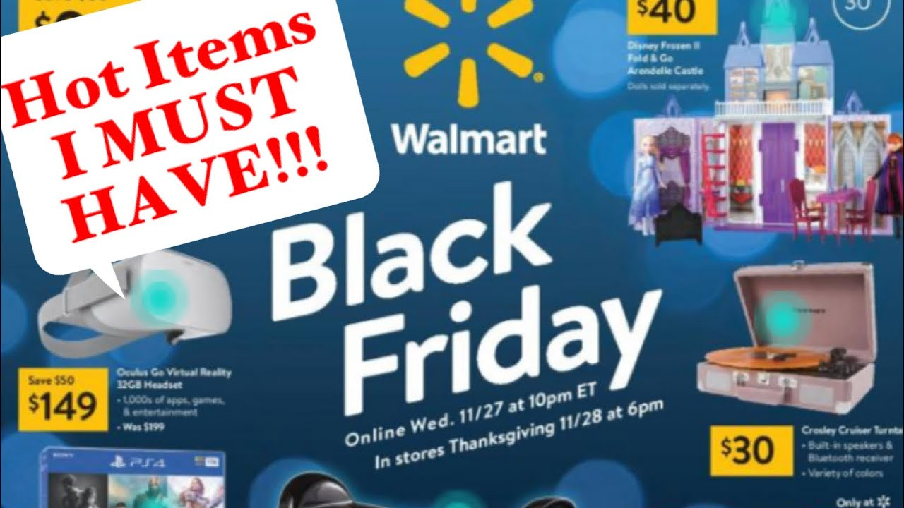 Walmart Black Friday Ad 2019 My Top Items I M Buying Youtube