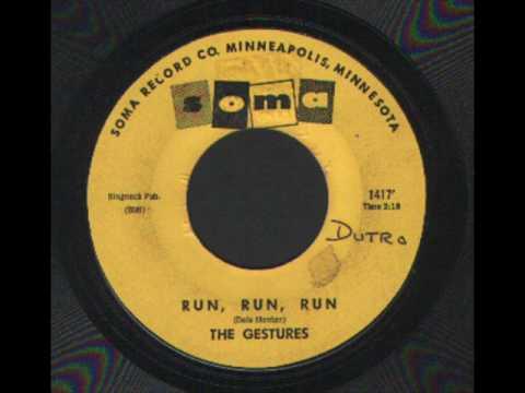 THE GESTURES - RUN RUN RUN SOMA 60's GARAGE