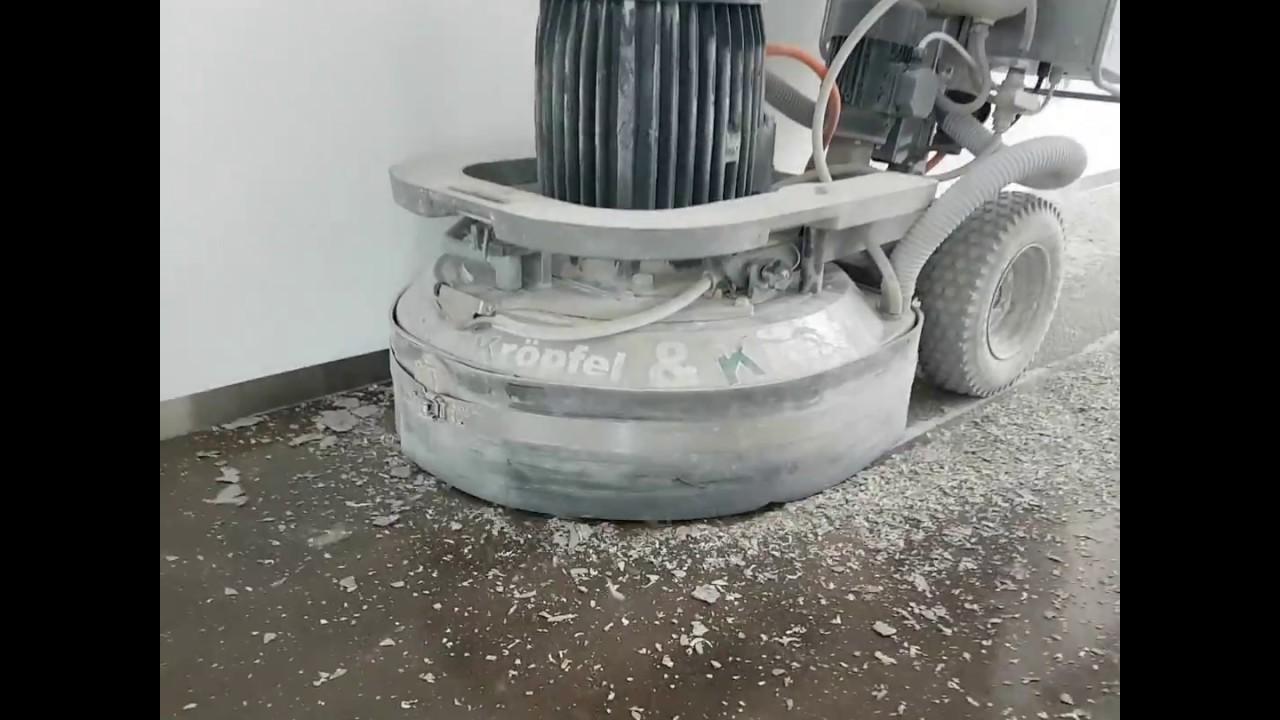 Epoxidharz Fußboden Gießen ~ Entfernen von epoxidharz beschichtungen 2016 youtube