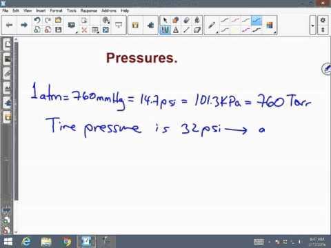 pressure conversion
