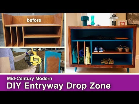 Mid-Century Modern DIY Entryway Drop Zone