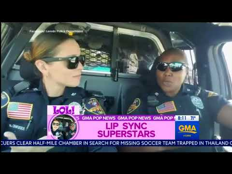 Today's Trend -  Lip sync superstars - 2 policewomen were stunning everyone with their clip