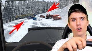 ФУРА БЕЗ ТОРМОЗОВ НА ЗИМНЕМ СПУСКЕ - BEAMNG DRIVE