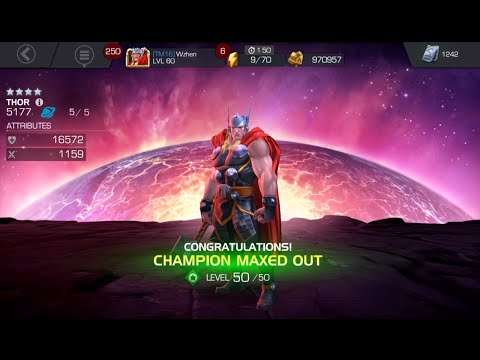 Thor to R5 + Beating ROL Winter Soldier under 2 min (57 hits) - Marvel Contest of Champions