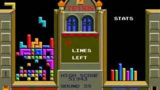 Tetris on Mame : Last 130.000 points