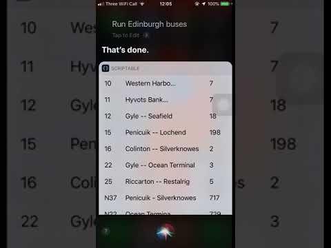 Edinburgh Bus Timetable - Scriptable Siri Shortcut