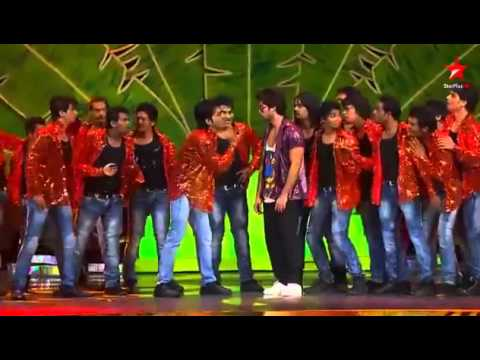 sahid kapoor dancing rockstar with prabhu deva at iifa 2012   YouTube2