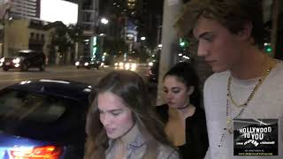 Stormi Bree Henley with Lucky Blue Smith talks about modeling myths outside Katsuya Restaurant in Ho ラッキーブルースミス 検索動画 16