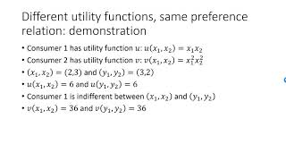 Different utility functions may represent the same preferences