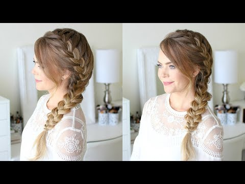 Side French Braid School Hairstyle