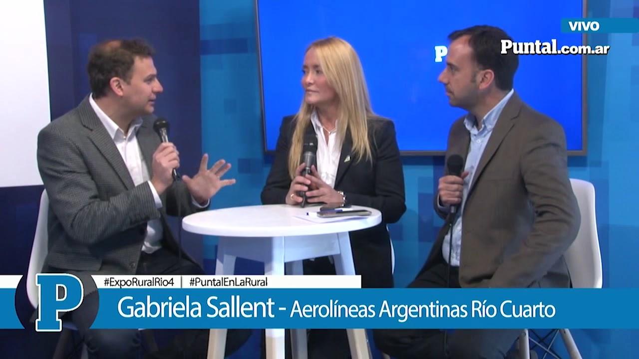 [PUNTAL EN LA RURAL] Gabriela Sallent - Aerolíneas Argentinas en Río Cuarto