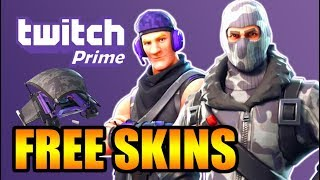 How to get TWITCH PRIME SKINS FREE in Fortnite: Battle Royale // How to GET TWITCH SKINS & REDEEM
