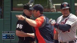 DET@CLE: Miggy, Ausmus get tossed after strike call