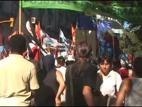 Escrache A La Embajada Nazi Sionista De Israel En  Buenos Aires, 22/1/2009
