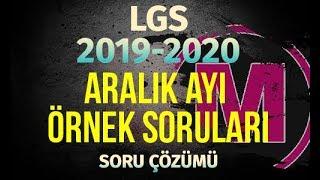 LGS 2020 ARALIK AYI ÖRNEK SORULAR MEB MATEMATİK