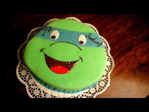Turtles Kuchen  Teenage Mutant Ninja Turtles Torte  von