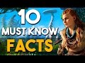 Horizon Zero Dawn - 10 MUST KNOW Gameplay and Story Features