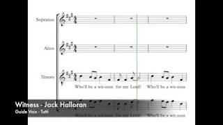 Halloran, Jack - Witness - Guide Voix - Tutti