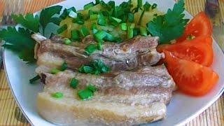 Домашние Видео Рецепты: Свиные Ребрышки и Картофель|картошка с мясом в мультиварке поларис 0517