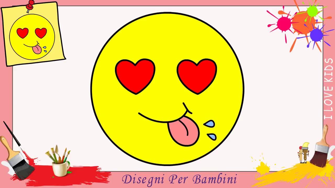 Come Disegnare Un Emoji Facile Kawaii Passo Per Passo Per Bambini