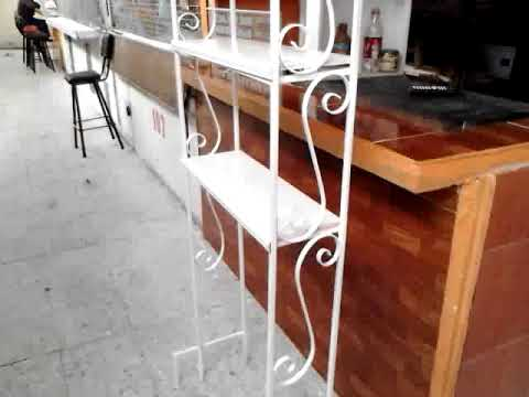 Herreria mueble de ba o 3 de 3 youtube for Mueble de pared industrial