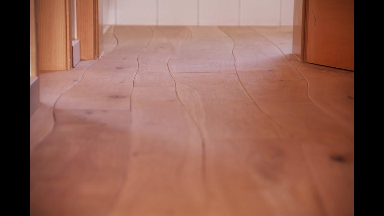 Holzboden Dielen neuer wohnungstrend einzigartiger holzboden mit geschwungenen