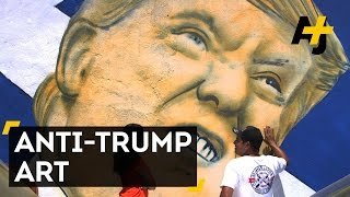 Artists Paint Trump On U.S.–Mexico Border Fence