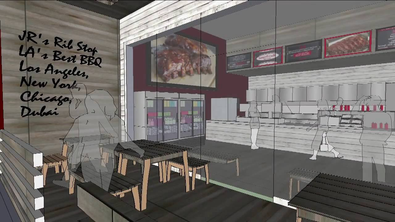 Jr s rib stop store restaurant design concept youtube