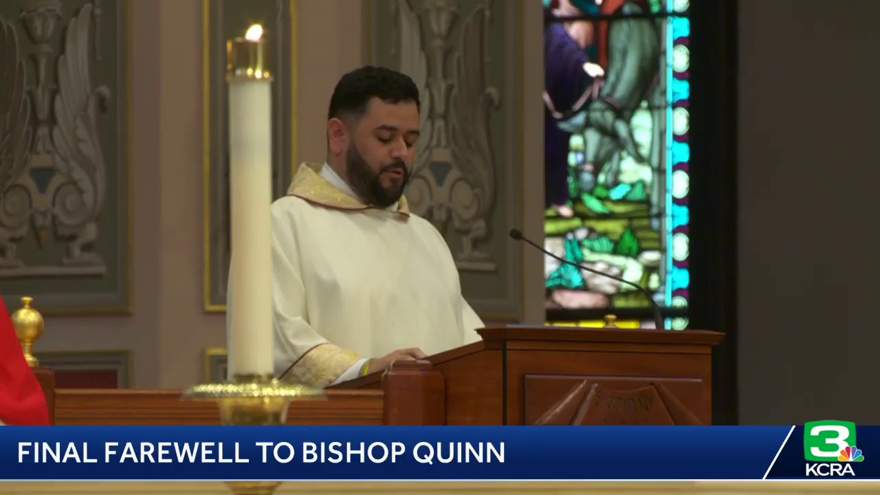 Bishop Francis Quinn is being laid to rest in downtown