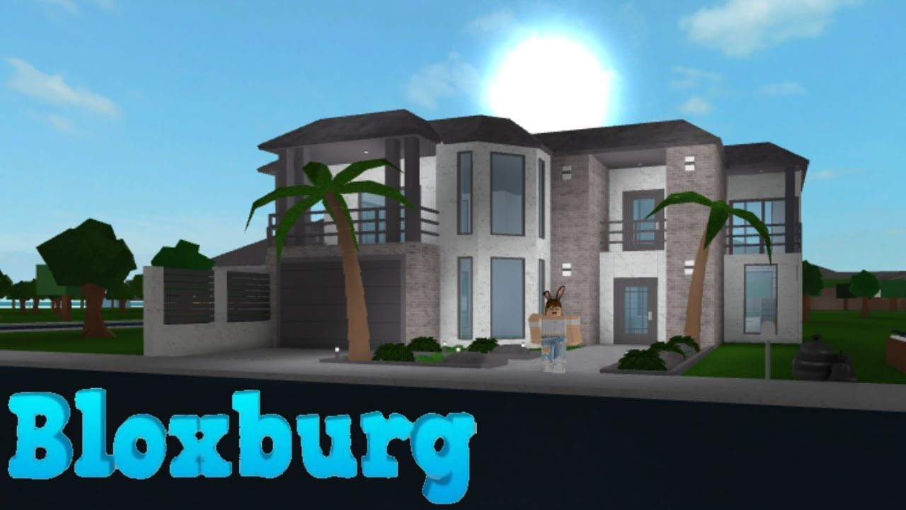 bloxburg contemporary family villa 33k youtube