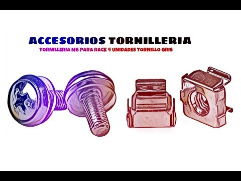 Video de Tornilleria M6 para rack 4 unidades tornillo  Gris