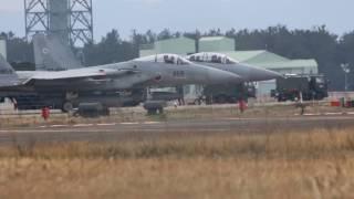 迫力の小松基地F-15の離陸 ランウェイ24 Powerful JASDF Komatsu Air ba...