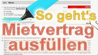 Mietvertrag Wohnung ausfüllen, abschließen und Inhalt verstehen. So geht's - Vermietershop.de