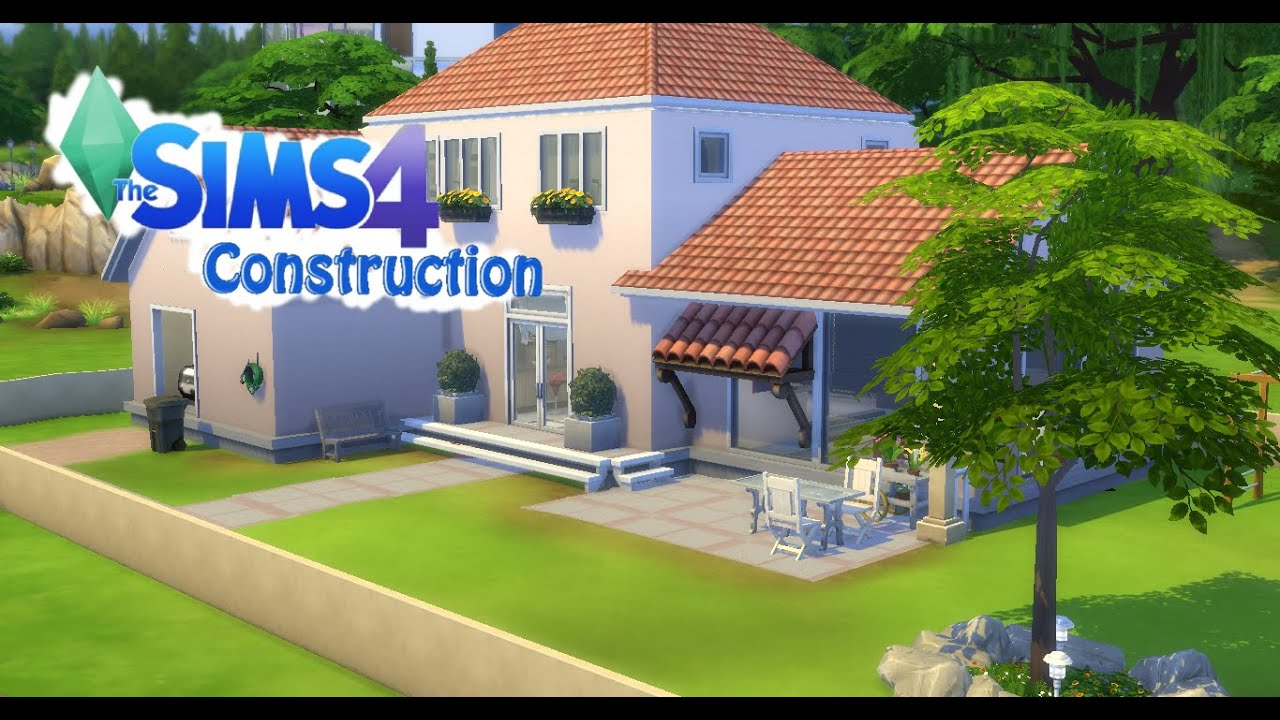 Sims 4 5 construction maison classique et moderne youtube for Maison moderne sims 4