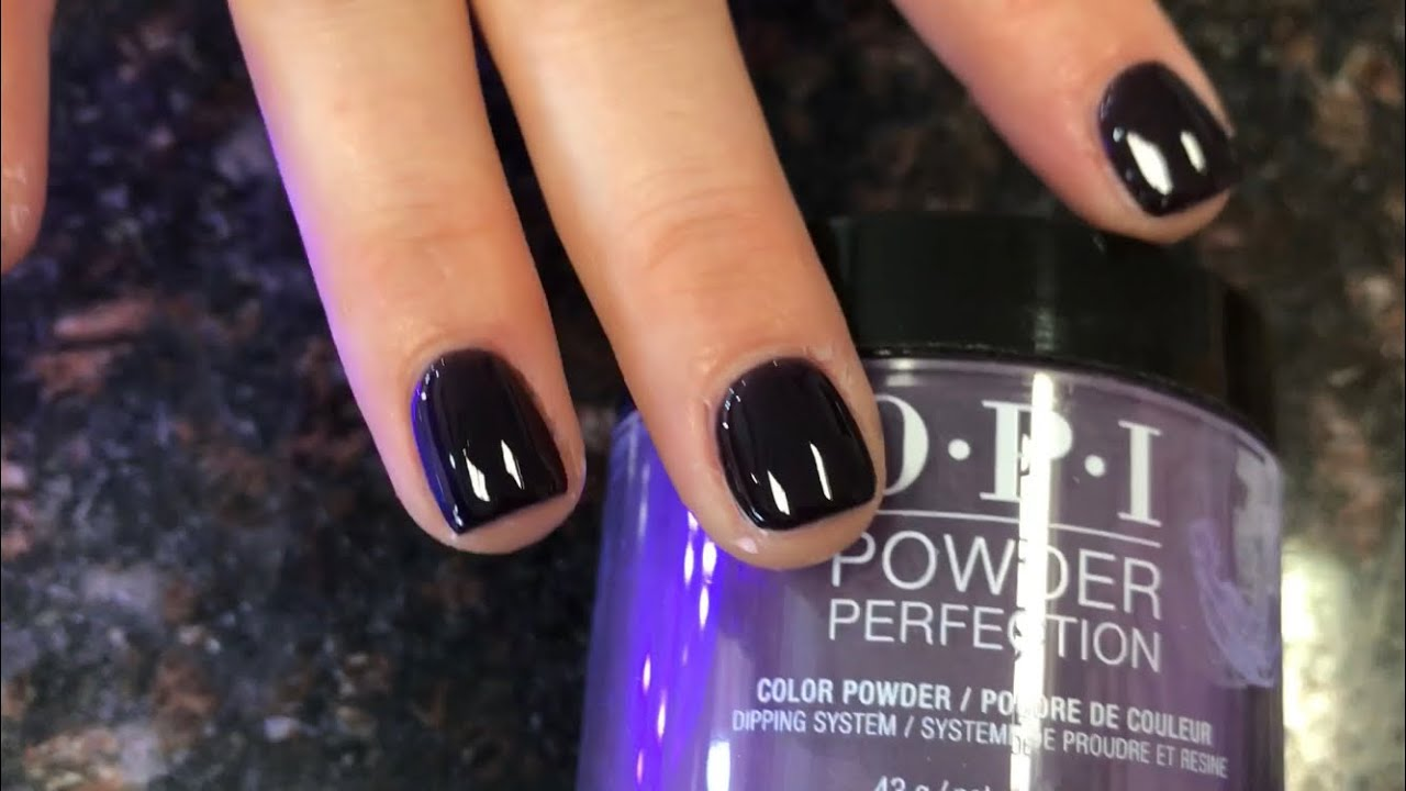 Opi Dip Powder Lincoln Park After Dark Lasting More Than 3 Weeks Better Than Gel Polish Youtube