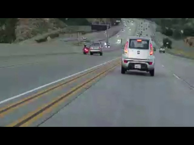 Road rage with motorcycle