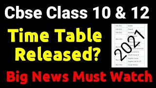 Cbse News, Class 10 and 12, Board Exam Time Released?