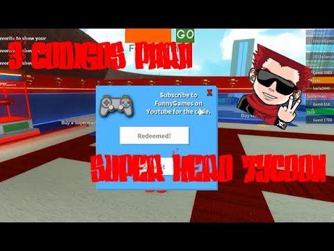 3 Codigos Para Super Hero Tycoon Roblox Youtube