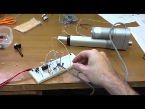 Pic 12f683 linear actuator position control - YouTube