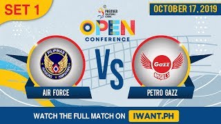 LIVE: SET 1 | Air Force vs. Petro Gazz | Oct 16, 2019 #PVL2019 (Watch the full game on iWant.ph)