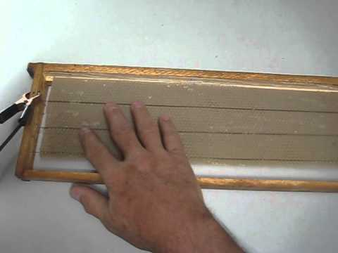 how to embed wire into wax foundation youtube rh youtube com Wax Foundation Sheets Beeswax Foundation Frame