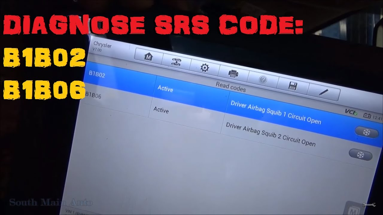 medium resolution of diagnose chrysler srs air bag codes b1b02 b1b06