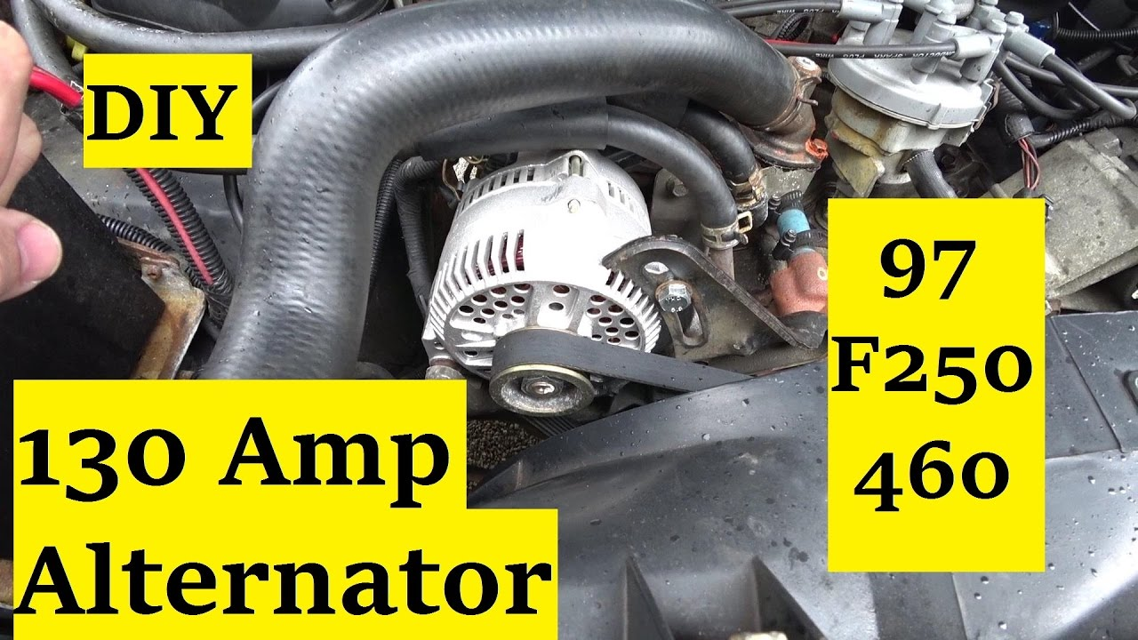 wiring ford 460 1997 f 350 wiring diagram online Ford F 350 Blue f250 350 130 amp alternator 🌌 youtube ford f 350 brake diagram wiring ford 460 1997 f 350