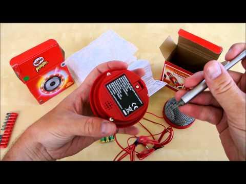 Pringles karaoke kit unboxing