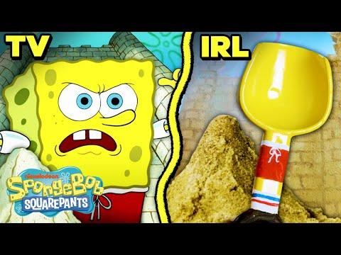 SpongeBob & Patrick Sand Castle War IRL! 🏰